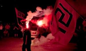 Golden Dawn supporters celebrate