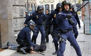 Crackdown on anti-austerity protesters in Spain